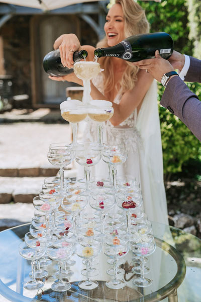champagne tower by seaweed cuisine