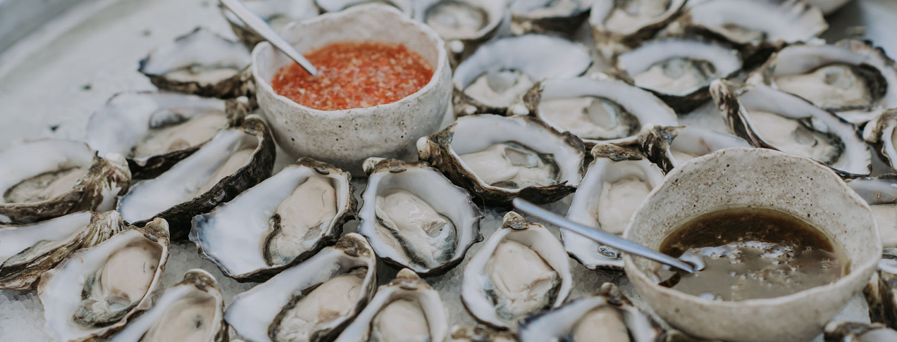 Oyster bar by Seaweed Cuisine catering Byron Bay